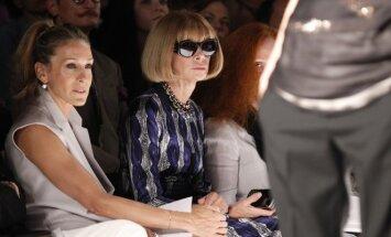 Aktorė Sarah Jessica Parker ir amerikietiškojo Vogue vyr. redaktorė Anna Wintour