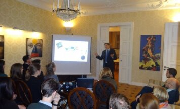 Discussion at Lithuanian Embassy in Stockholm