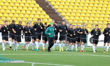 Lietuvos jaunimo (U21) futbolo rinktinės treniruotė