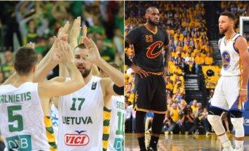 Kaip atrodytų olimpinis trijulių krepšinis su NBA žvaigždėmis (DELFI ir Getty Images nuotr.)