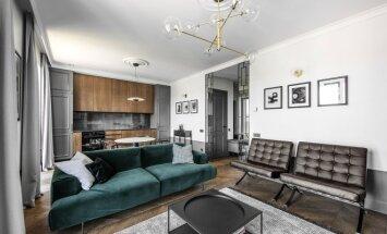 61 kv.m viengungio butas Vilniuje: moderni klasika su prabangos prieskoniu