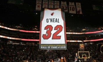 Shaquille'o O'Nealo marškinėliai kyla į Majamio arenos palubes
