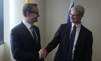 Political Director of the Ministry of Foreign Affairs of Israel Alon Ushpiz and Political Director of the Ministry of Foreign Affairs of Lithuania Rolandas Kačinskas