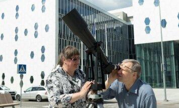 Merkurijaus kelione Saule stebėta ir Vilniuje