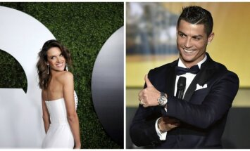 Alessandra Ambrossio ir Cristiano Ronaldo (Reuters/AFP nuotr.)