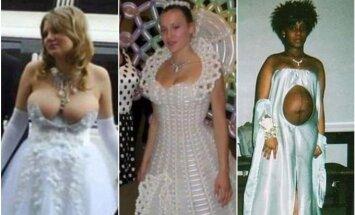 Vestuvinės suknelės, kokių geriau nevilkėti