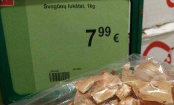 Svogūnų lukštų kaina