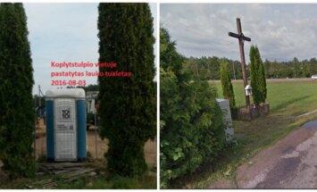 Vietoj kryžiaus pastatytas tualetas