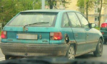 Surūdijęs automobilis Vilniuje