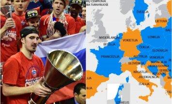 Maskvos CSKA praėjusį sezoną tapo pajėgiausiu Europos klubu, bet kitąmet gresia dvivaldystė
