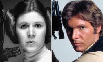 Carrie Fisher ir Harrison Ford