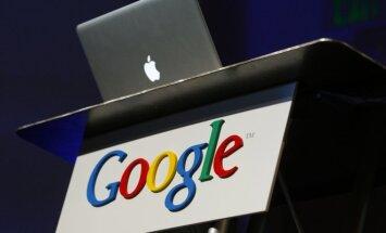 Apple ir Google logotipai
