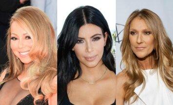 Mariah Carey, Kim Kardashian, Celine Dion