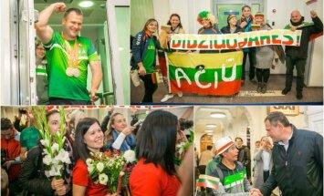 Parolimpiečių sutiktuvės Vilniaus oro uoste