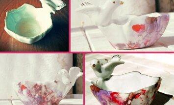Marmuro dažymas: kaip pagyvinti vienspalvį puodelį