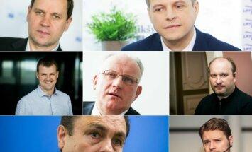 V. Tomaševskis, R. Šimašius, G. Paluckas, J. Pinskus, J. Panka, P. Gražulis, M. Majauskas,