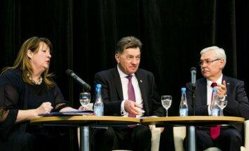 At the SociDems congress. Vilija Blinkevičiūtė, Algirdas Butkevičius and Zigmantas Balčytis