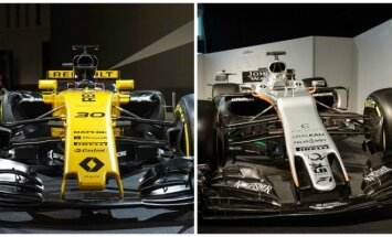 F-1 Renault ir Force India nauji automobiliai