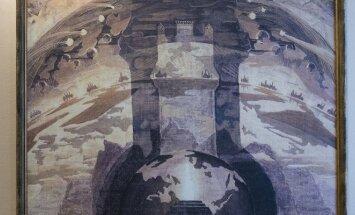 Rex, one of Mikalojus Konstantinas Čiurlionis most famous paintings, a reproduction in Čiurlionis  House in Vilnius