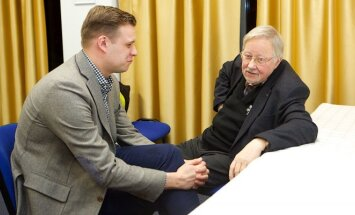 Gabrielius Landsbergis ir Vytautas Landsbergis