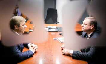 Ramūnas Karbauskis ir Saulius Skvernelis © DELFI / Kiril Čachovskij