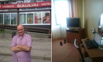 Giedrius Drukteinis vieši viešbutyje Šiauliuose