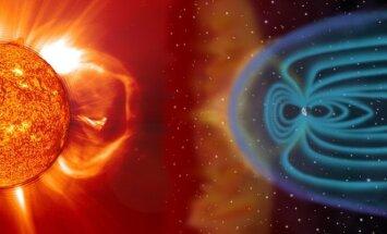 SOHO kosminės observatorijos iliustr.