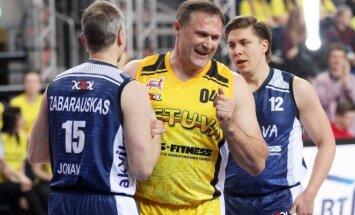LMKL Žvaigždžių dienoje trijulių varžybose dalyvavo ir dukart olimpinis čempionas Virgilijus Alekna