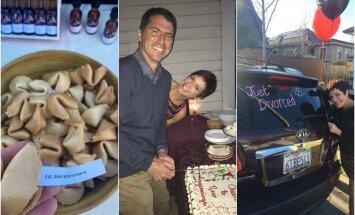 Pora surengė įspūdingą skyrybų šventę