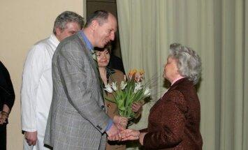 su prof. F.  Jankevičiumi švenčiant 80-mečio jubiliejų