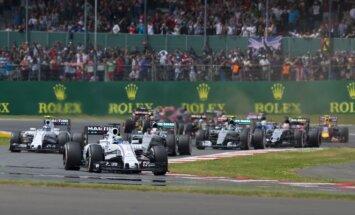 D. Britanijos GP lenktynių pirmas ratas