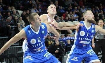 Klaipėdos Neptūno krepšininkai kovoja dėl kamuolio