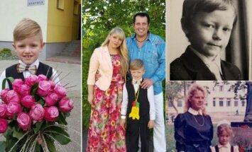 R. Cicinas su mylimąja Neringa ir jųdviejų sūnumi Adu, J. Liesis, S. Mykolaitytė