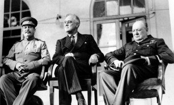 Josifas Stalinas, Franklinas D. Rooseveltas ir Winstonas Churchillis