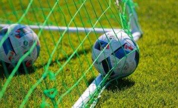 Futbolo rungtynių momentas Panevėžyje.