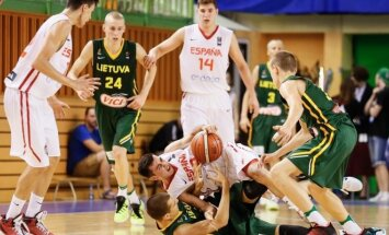Europos čempionato finalas: Ispanija U16 – Lietuva U16