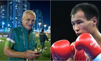 Vladimiras Bajevas ir Erkinas Adylbekas Uulu (A. Pliadžio ir AFP nuotr.)