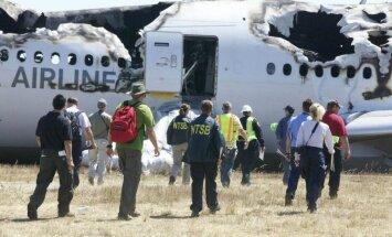 San Fransisko oro uoste sudužo lėktuvas