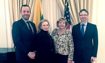 Honorary Consul Ronén Waisser Landau with Krista Bard (Hon Con in Philadelphia, PA), Ingrida Bublys (Hon Con in Ohio) and Rolandas Kriščiūnas, Ambassador of Lithuania to the United States of America and Mexico.