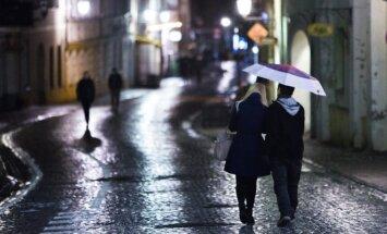 Šlapias naktinis Vilnius
