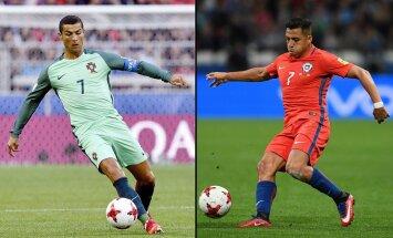 Cristiano Ronaldo ir Alexis Sanchezas