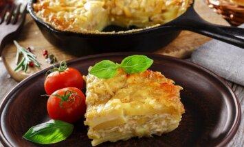 Bulvių ir trijų sūrių apkepas