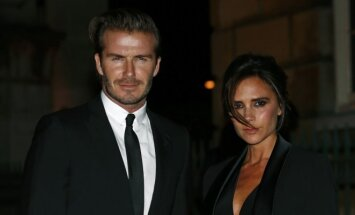 Davidas Beckhamas su žmona Victoria Beckham
