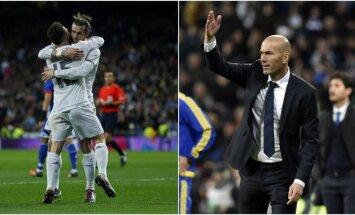 """Zinedine'as Zidane'as """"Real"""" trenerio poste debiutavo pergalingai (AFP ir AP nuotr.)"""