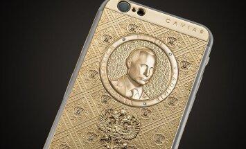 V. Putino atvaizdu papuoštas iPhone 7. Caviar nuotr.