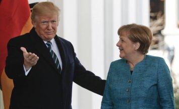 Angelos Merkel ir Donaldo Trumpo susitikimas