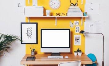 5 žingsniai, kaip atnaujinti darbo kambarį