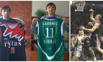 Grigorijus Chižniakas parduoda dvejus marškinėlius, kad padėtų sunkiai sergančiam Aleksandrui Okunskiui (FBU, DELFI archyvo nuotr.)