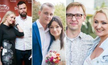 R. Ščiogolevaitė ir R. Damijonaitis, R. Lukoševičiūtė ir M. Dauda, I. Norkutė-Žvinienė ir A. Žvinys