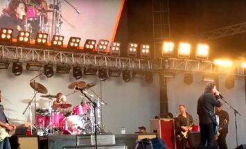 Foo Fighters koncerto akimirka